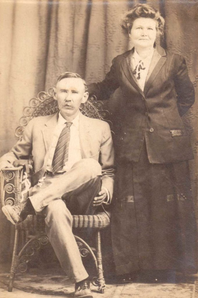 Isom Stockard and Nancy Hiler.   (Photograph provided by and in the collection of Johnny Taylor, Marshall, TX, 2016)