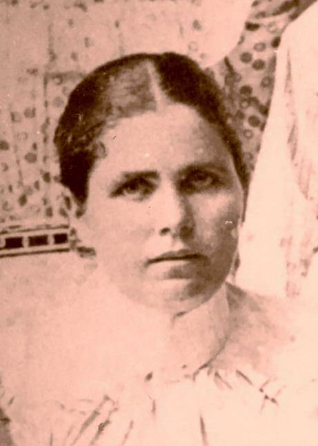 Althea Caroline Pritchett Smithen, 1901.   (Photograph provided by and in the collection of Johnny Taylor, Marshall, TX, 2017)