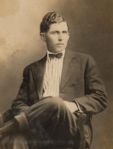 A young Harvey Smithen.   (Photograph provided by and in the collection of Johnny Taylor, Marshall, TX, 2017)